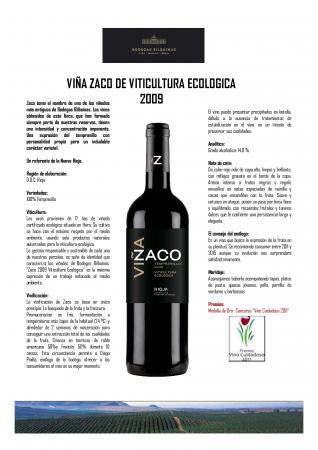 VIÑA ZACO DE VITICULTURA ECOLÓGICA 2009