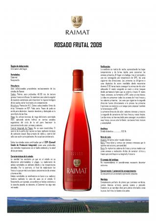 RAIMAT ROSADO FRUTAL 2009