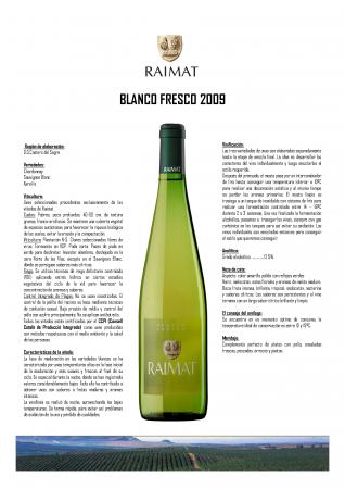 RAIMAT BLANCO FRESCO 2009