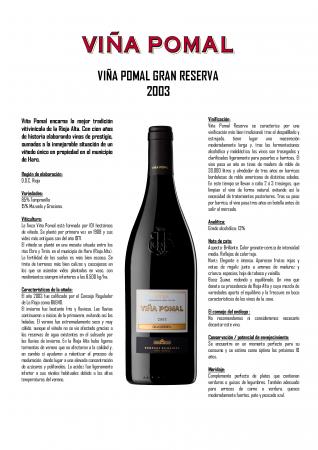 VIÑA POMAL GRAN RESERVA 2003