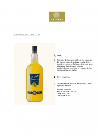 LIMONCELLO LIMÓ 1,5L