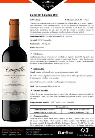 CAMPILLO CRIANZA 2014