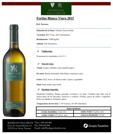 FORTIUS BLANCO VIURA CHARDONNAY 2015