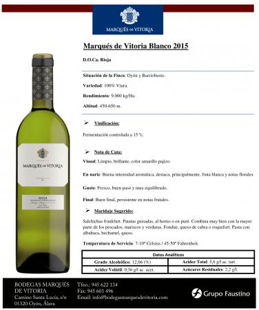 MARQUES DE VITORIA BLANCO 2015