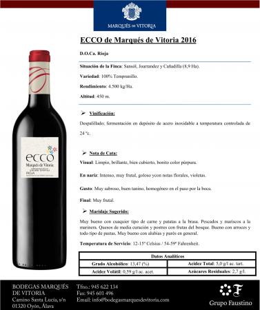 MARQUES DE VITORIA ECCO 2016