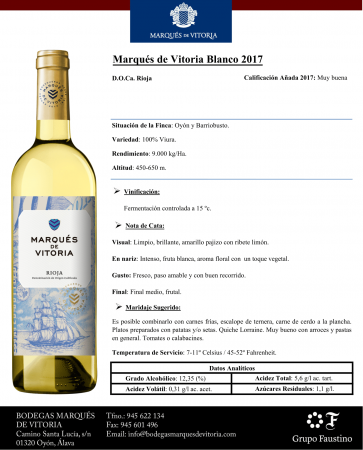 MARQUES DE VITORIA BLANCO 2017