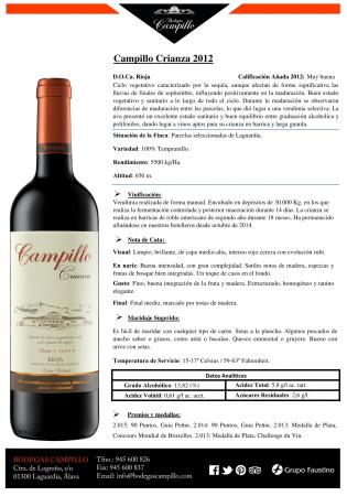 CAMPILLO CRIANZA 2012