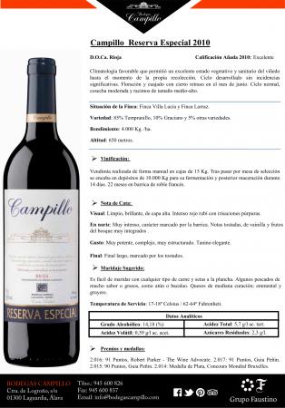 CAMPILLO RESERVA ESPECIAL 2010