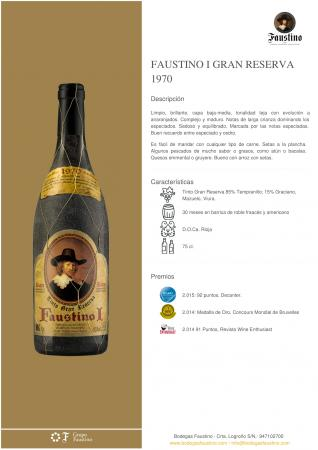 FAUSTINO I GRAN RESERVA 1970